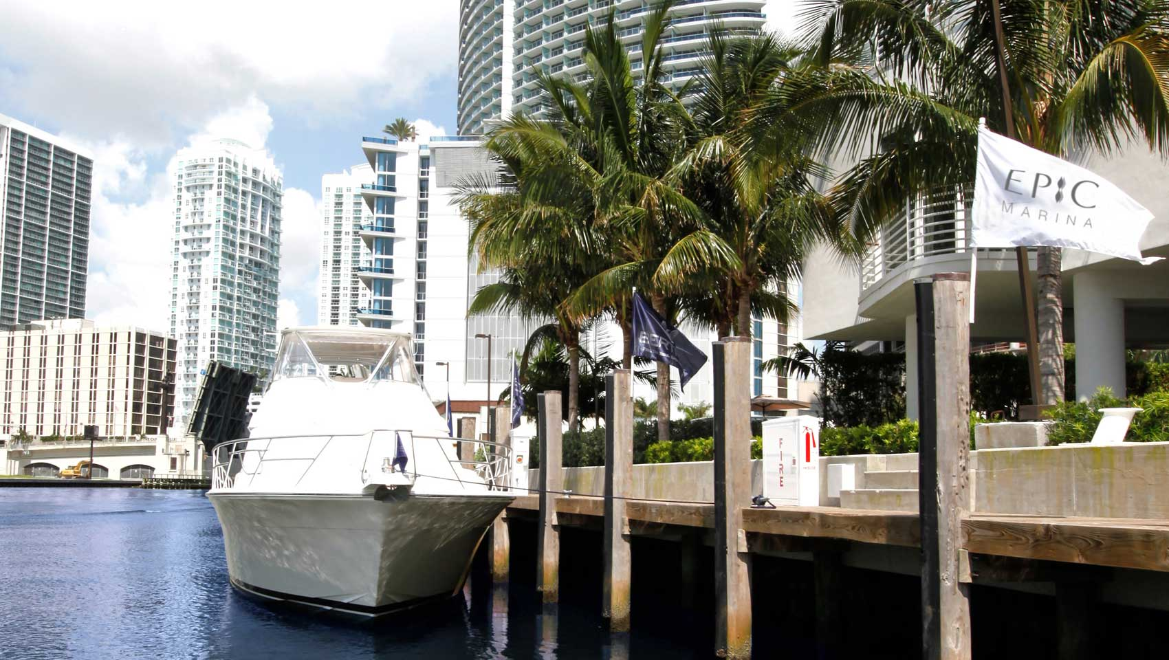 Miami marina at Kimpton EPIC Hotel