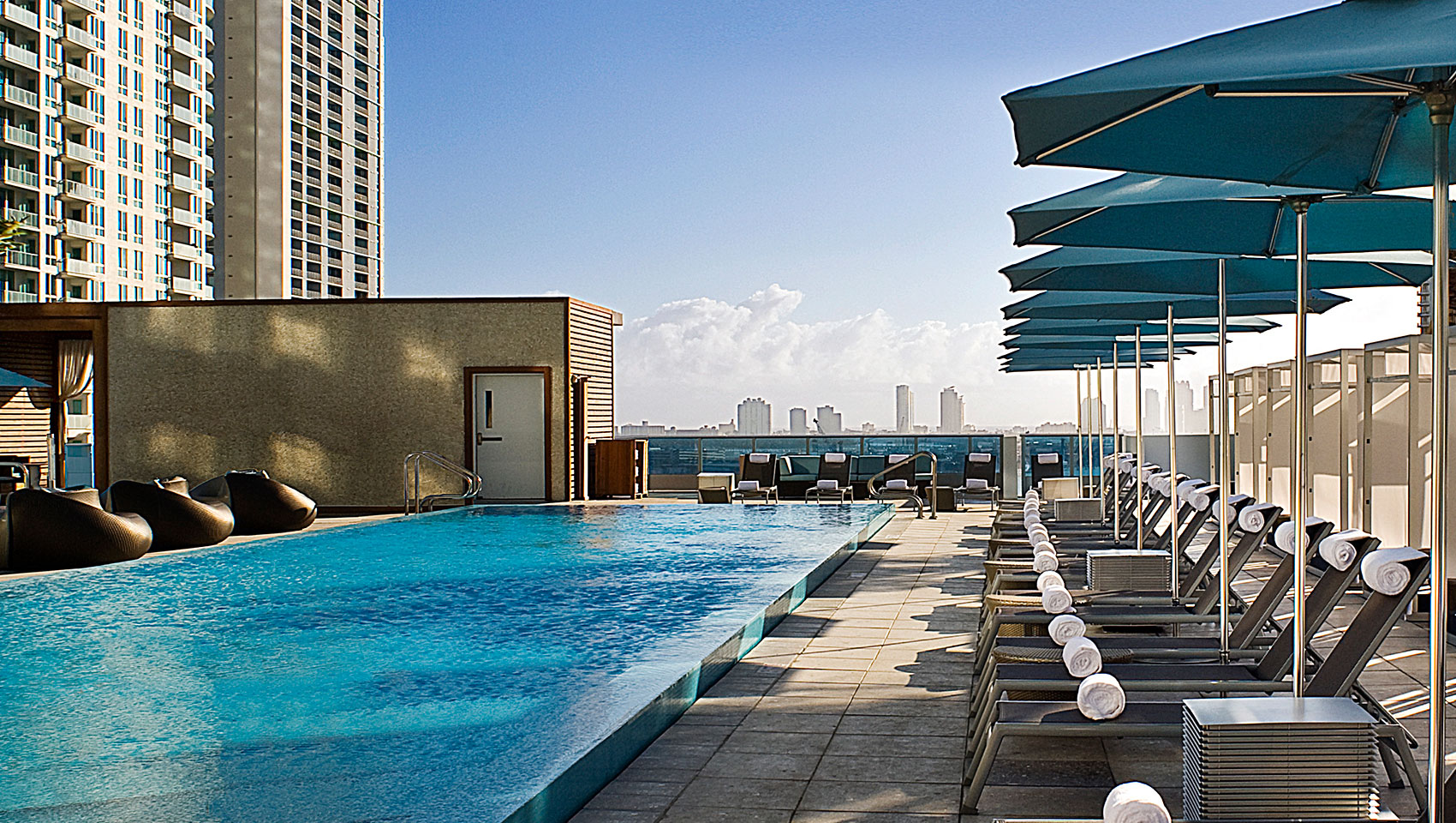 Rooftop pool at epic in miami